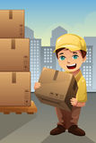 Delivery man in the city Royalty Free Stock Image