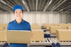 Delivery man concept Royalty Free Stock Photography