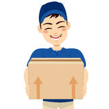 Delivery Man Delivering Mail Package Stock Photography