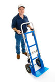 Delivery Man & Dolly - Full Body stock photo