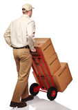 Delivery man on duty Stock Image