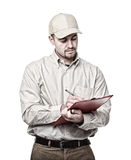 Delivery man on duty Royalty Free Stock Photography