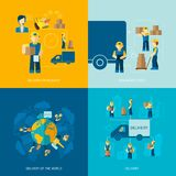 Delivery Man Icon Flat Stock Images