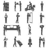Delivery Man Icons Set Royalty Free Stock Image