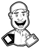 Delivery man. Ilustrator design .eps 10 Stock Photography