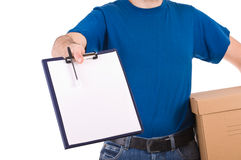 Delivery man. Stock Image