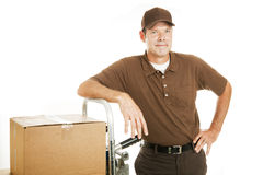 Free Delivery Man Or Mover - Confident Stock Photography - 13080262