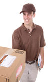 Delivery Man with Package Stock Photo