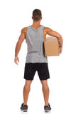 Delivery Man Rear View Stock Images