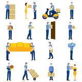 Delivery Man Set Royalty Free Stock Images