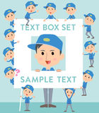 Delivery man text box Royalty Free Stock Photo