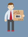 Delivery man.Vector Stock Photo