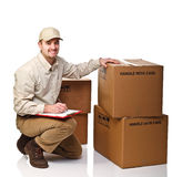 Delivery man at work Royalty Free Stock Images