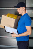 Delivery man during work Stock Photo