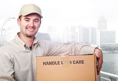 Delivery man worker Royalty Free Stock Images