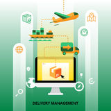 Delivery Management Illustration Royalty Free Stock Photos