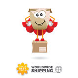 Delivery mascot. Shipping concept design vector. royalty free stock images