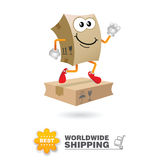 Delivery mascot. Shipping concept design vector. Stock Image