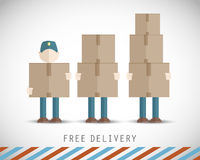 Delivery men Stock Images