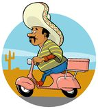 Delivery Mexican Chef Stock Photos