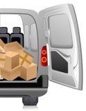 Delivery minibus Stock Image