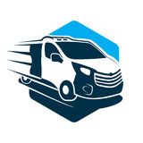 Delivery. Modern and simple car delivery illustration Stock Image