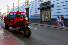 Delivery motorcycle in Lima Stock Photography