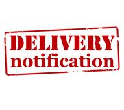 Delivery notification. Rubber stamp with text delivery notification inside,  illustration Royalty Free Stock Photography