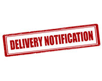 Delivery notification Stock Photography