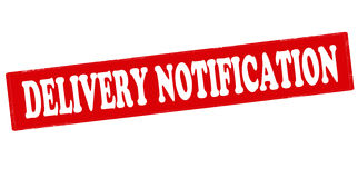 Delivery notification Stock Photo