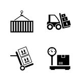 Delivery order. Simple Related Vector Icons. Set for Video, Mobile Apps, Web Sites, Print Projects and Your Design. Black Flat Illustration on White Background Stock Images