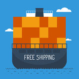 Delivery oversea by ship Stock Images