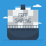 Delivery oversea by ship Royalty Free Stock Image