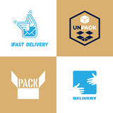 Delivery and pack logo Royalty Free Stock Photos