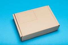 Delivery package, shipment concept. Post cardboard box mockup.  stock photography