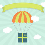 Delivery with parachute Stock Photos