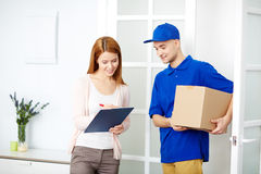 Delivery of parcel Stock Photography