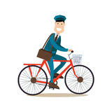 Delivery people concept vector illustration in flat style Royalty Free Stock Photography