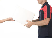 Delivery person delivering packages Stock Photos