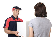 Delivery person delivering packages Stock Photography