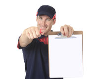 Delivery person Royalty Free Stock Photos