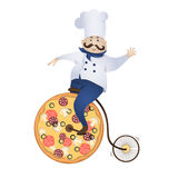 Delivery pizza Royalty Free Stock Photography