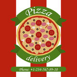 Delivery of Pizza vector illustration