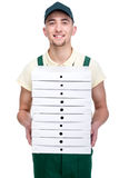 Delivery. Pizza. Stock Photo