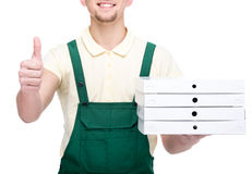 Delivery. Pizza. Stock Images