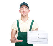 Delivery. Pizza. Royalty Free Stock Photo