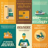 Delivery Poster Set Stock Photo