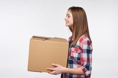 Delivery, relocation and unpacking. Stock Image