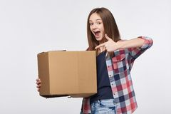 Delivery, relocation and unpacking. Stock Photos