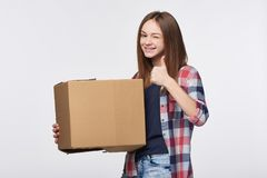 Delivery, relocation and unpacking. Stock Images
